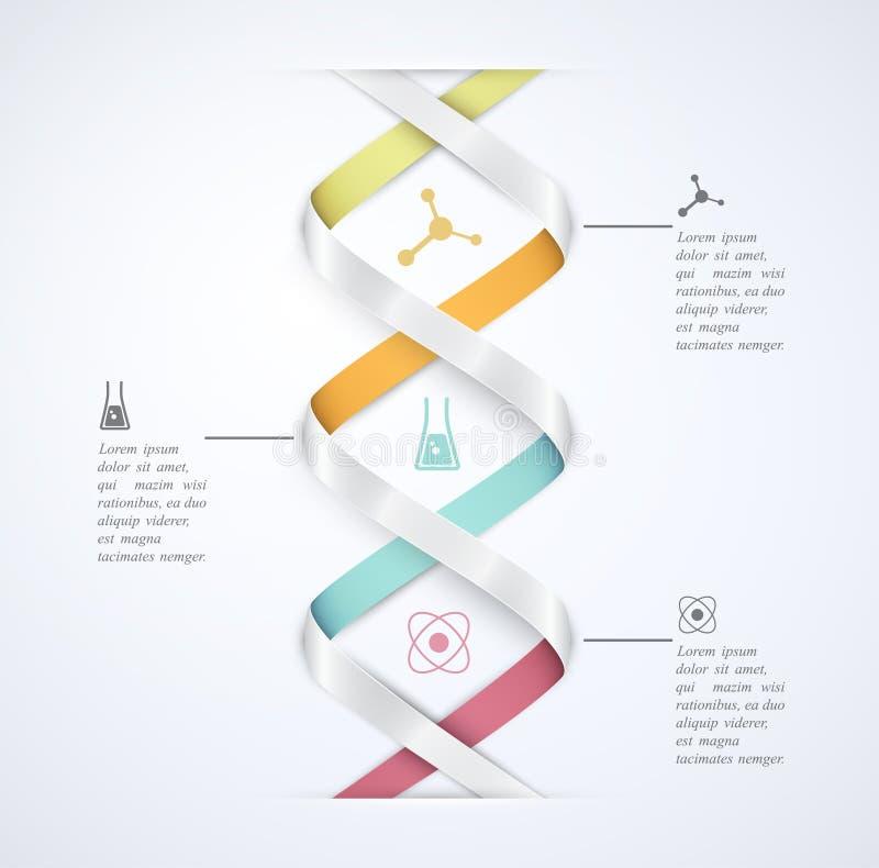 Nauka infographic ilustracja wektor