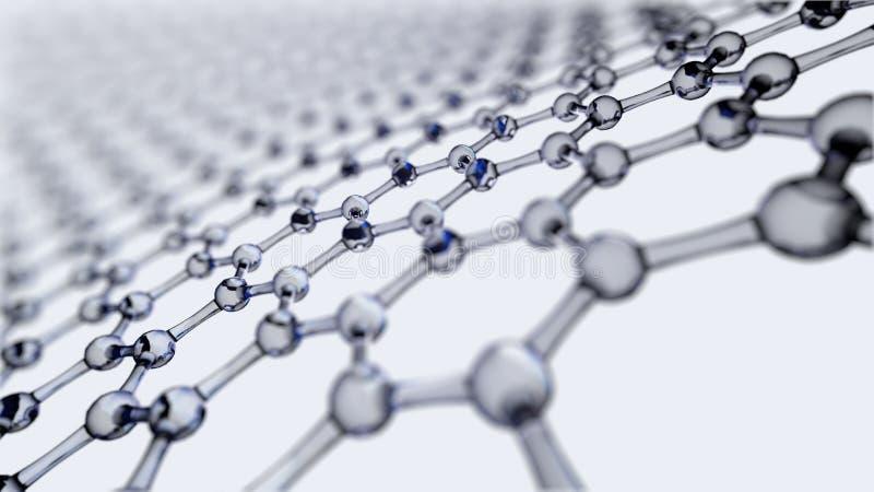 Nauka lub medyczny tło z molekułami i atomami ilustracja wektor
