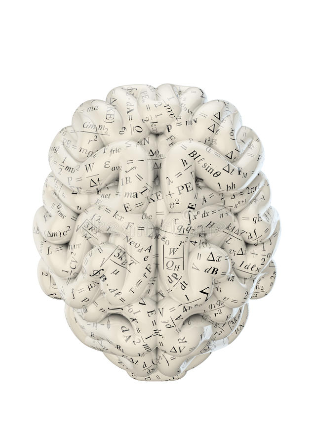 Nauka mózg ilustracja wektor