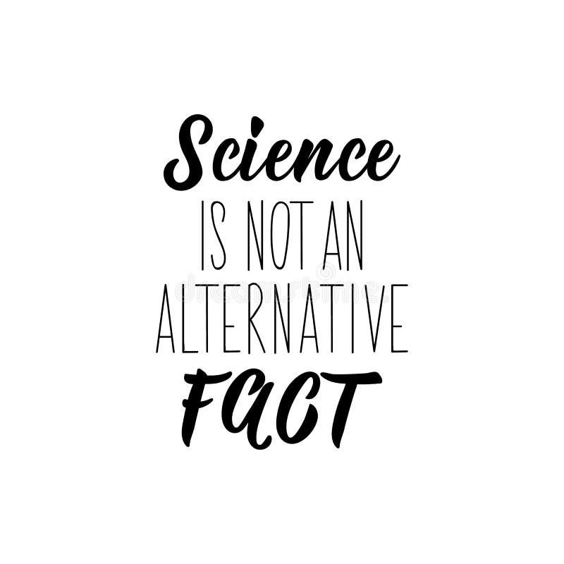 Nauka nie jest alternatywą Ilustracja wektorowa Literatura Ilustracja odręczna ilustracja wektor