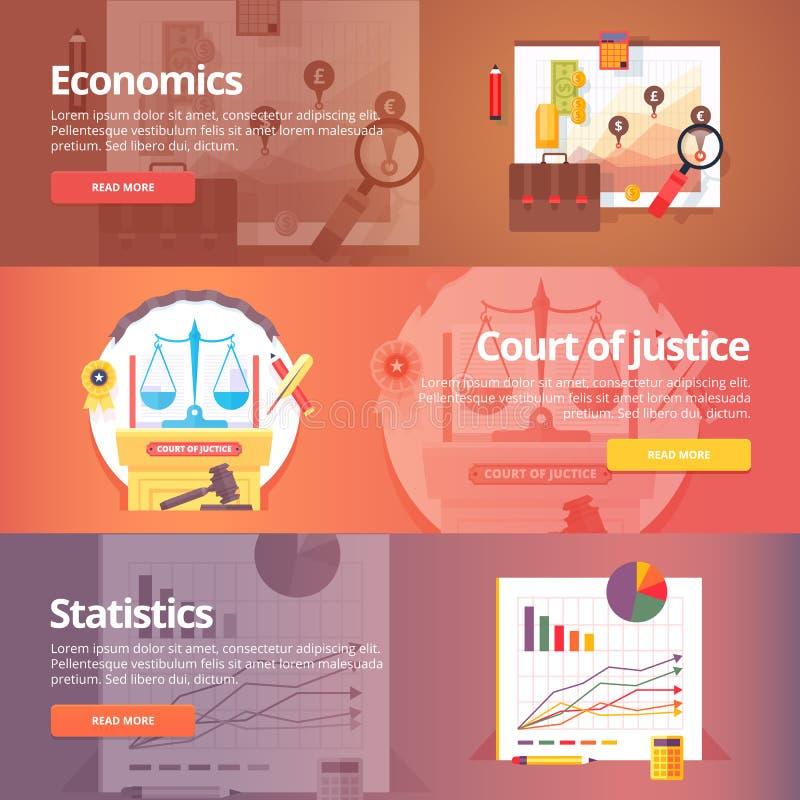 Nauka społeczna ekonomie Ekonomia polityczna ilustracja wektor