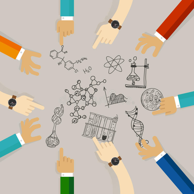 Nauki edukaci symbolu kolegium studencki kurs na nauka materiałach naukowa współpraca na badaniu ilustracji