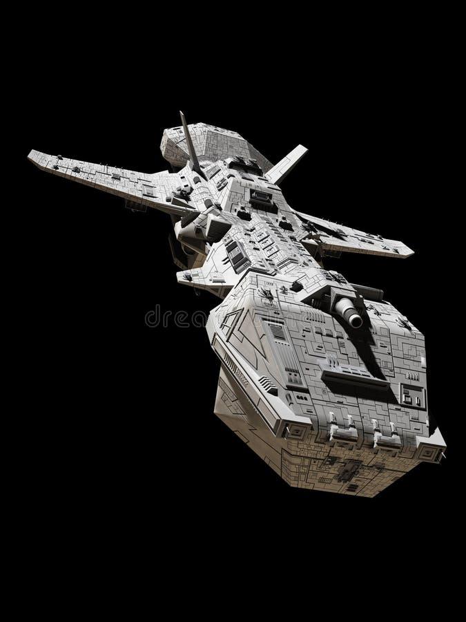 Nauki fikci Międzyplanetarny śmigłowiec szturmowy - Frontowy widok ilustracji