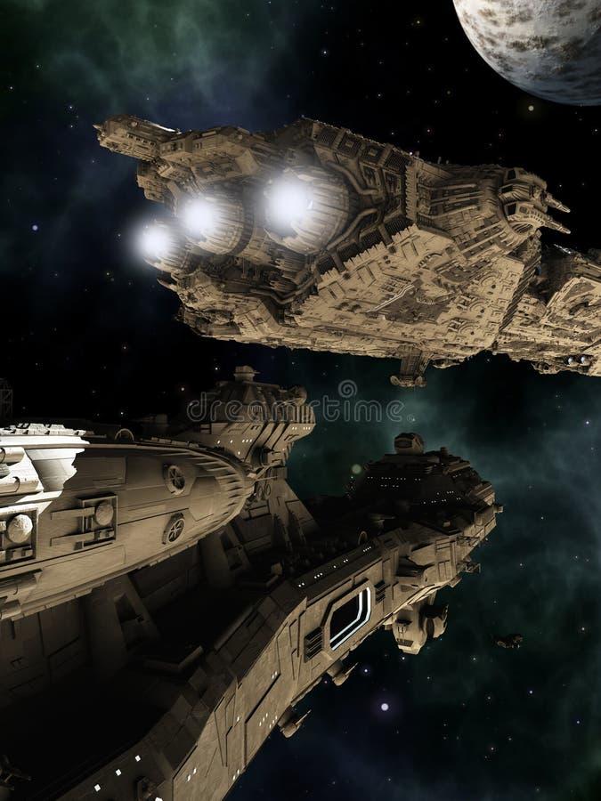 Batalistyczni krążowniki royalty ilustracja