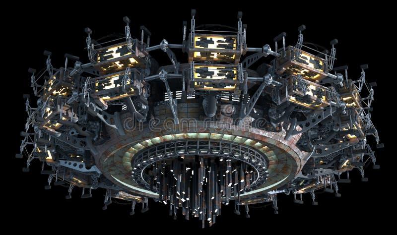 Nauki fikci statek kosmiczny ilustracji