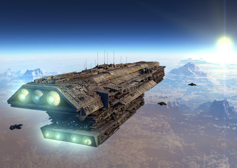 Nauki fikci statek kosmiczny obrazy royalty free