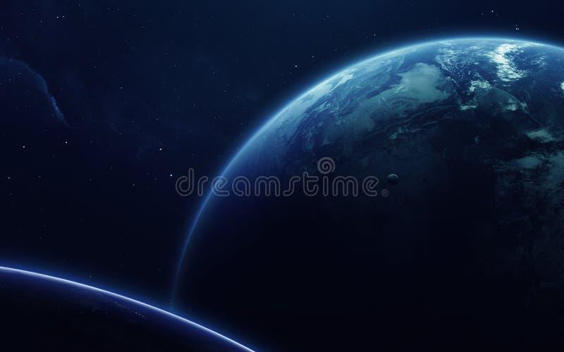 Nauki fikci sztuka Piękno głęboka przestrzeń Elementy ten wizerunek meblujący NASA zdjęcia royalty free