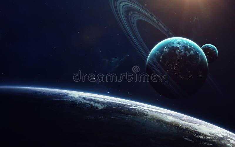 Nauki fikci sztuka Piękno głęboka przestrzeń Elementy ten wizerunek meblujący NASA zdjęcie royalty free