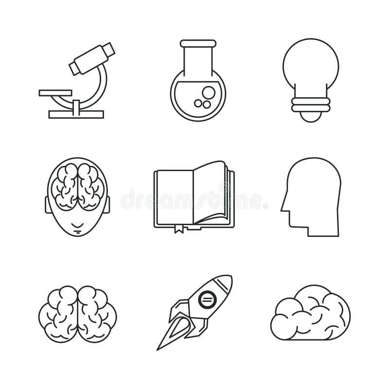 Nauki i pomysłów ikony royalty ilustracja