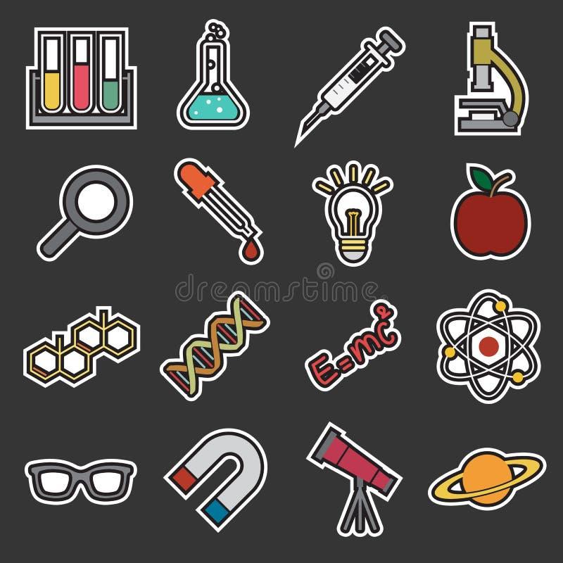 Nauki ikona ilustracji