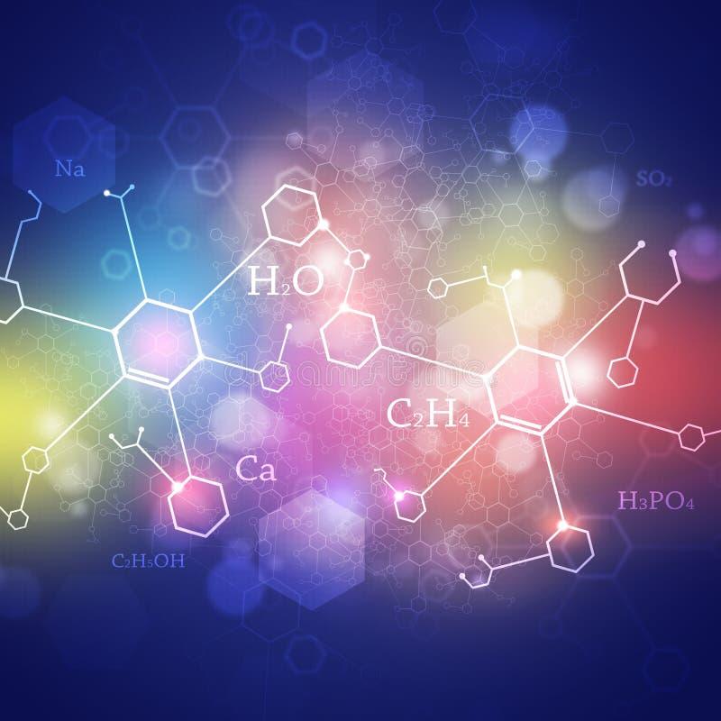 Nauki Multicolor Abstrakcjonistyczny tło ilustracja wektor