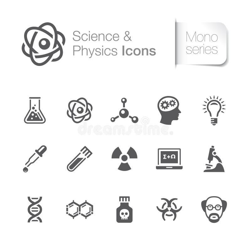 Nauki & physics powiązane ikony ilustracji