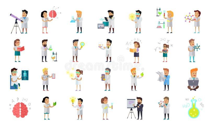 Naukowa charakteru kolekcja ilustracji