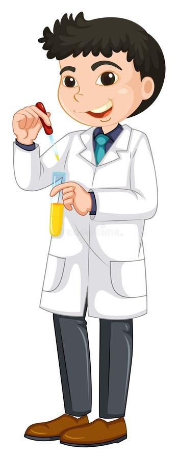 Naukowa eksperyment w Próbnej tubce ilustracja wektor