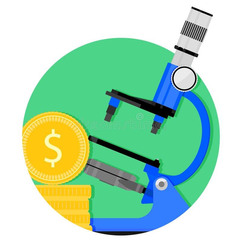 Naukowa finansowanie ikona ilustracji