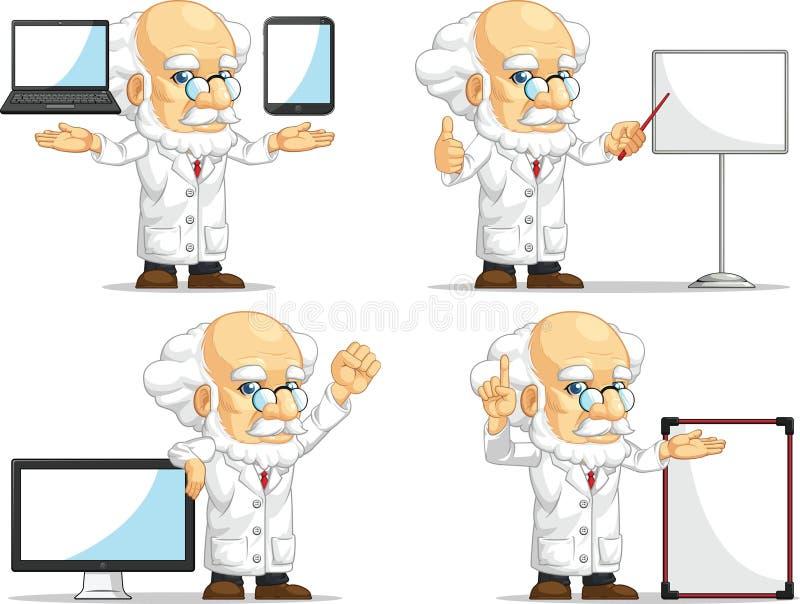 Naukowa lub profesora Dostosowana maskotka 14 royalty ilustracja