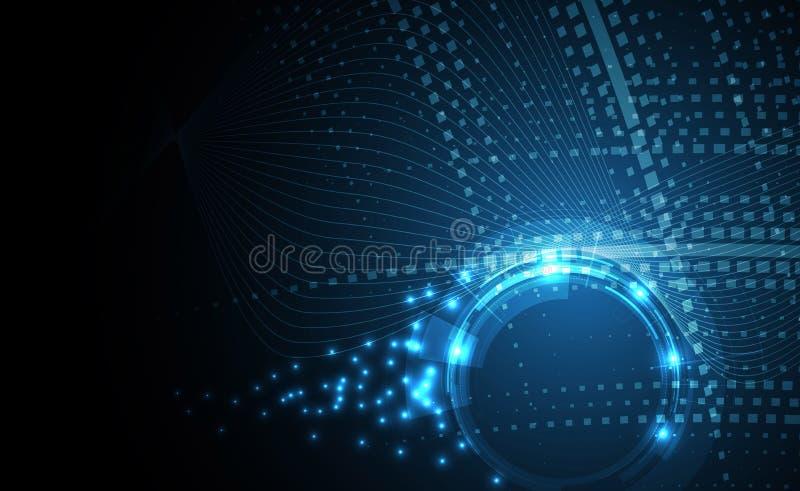 Naukowa Przyszłościowa technologia Dla Biznesowej prezentaci Ulotka, royalty ilustracja