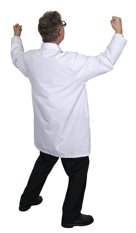 Naukowiec, lekarka Odosobniona, Szczęśliwy, Uradowany, fotografia stock