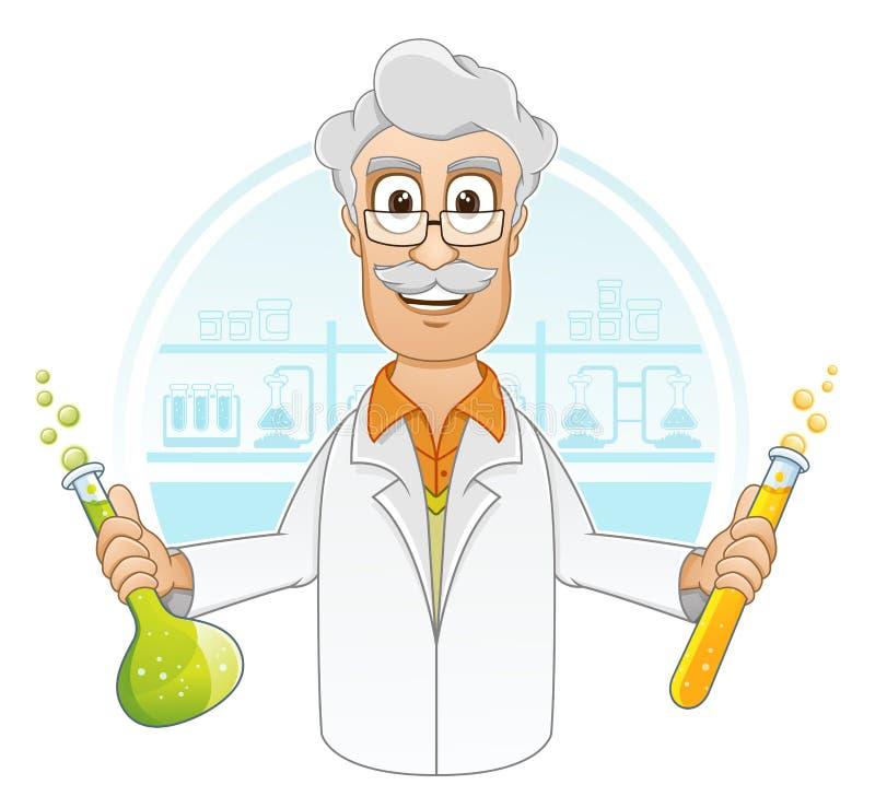 Naukowiec w laboratorium royalty ilustracja