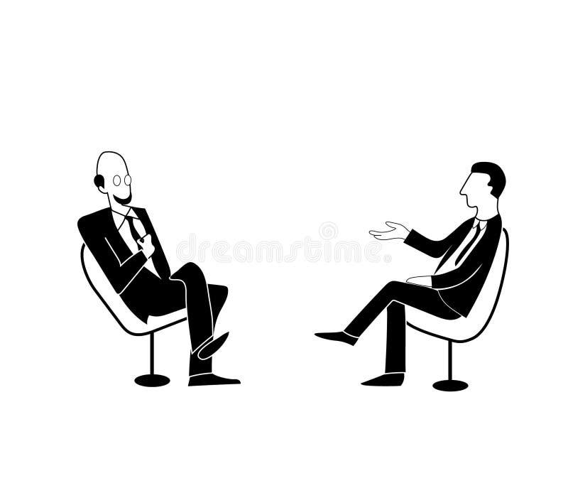 Naukowy lub polityczny program dyskusyjny Wektorowy rysunkowy wizerunek ilustracji