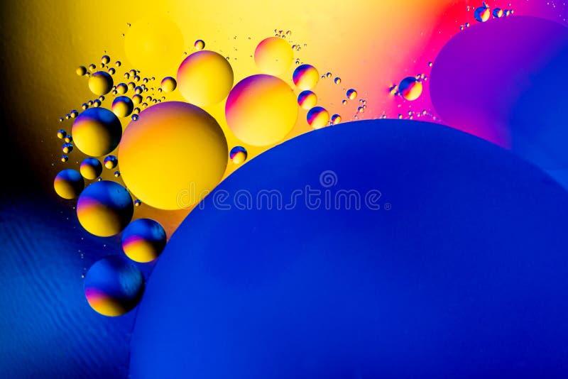 Naukowy wizerunek komórki błona Makro- ciekłe substancje up Abstrakcjonistyczny molekuła atomu sctructure niebieski tła pęcherzyk obraz stock