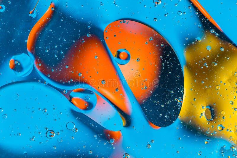 Naukowy wizerunek komórki błona Makro- ciekłe substancje up Abstrakcjonistyczny molekuła atomu sctructure niebieski tła pęcherzyk obrazy stock