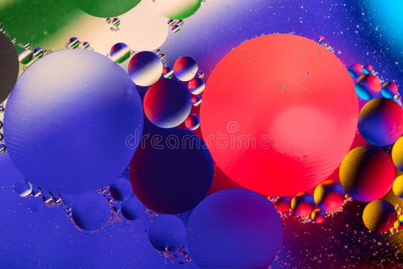 Naukowy wizerunek komórki błona Makro- ciekłe substancje up Abstrakcjonistyczny molekuła atomu sctructure niebieski tła pęcherzyk zdjęcie royalty free