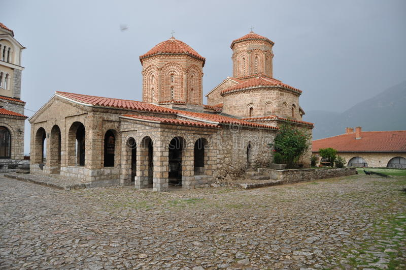 Naum Monastery no lago Ohrid fotografia de stock
