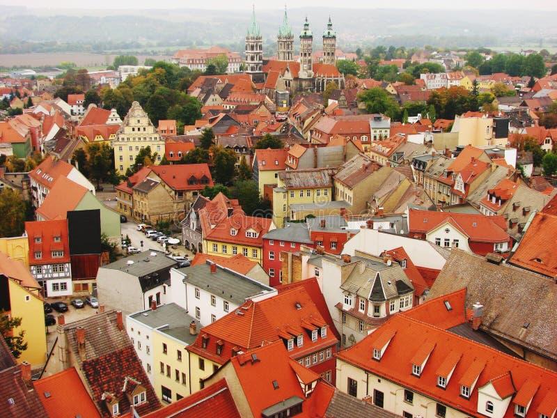 Naumburg, Duitsland: De Mening van de stad royalty-vrije stock foto's