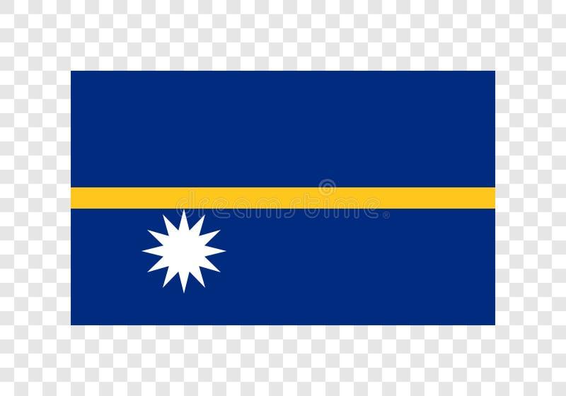 Nauru - bandeira nacional ilustração royalty free