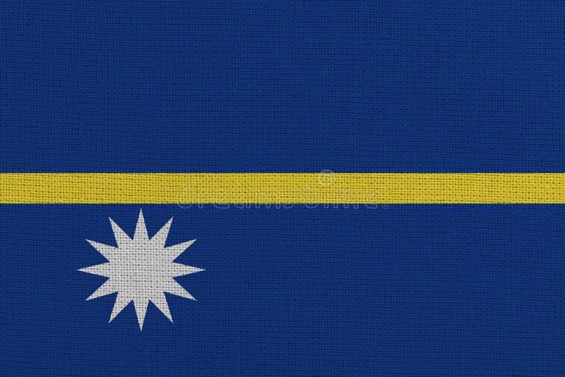 Nauru-infrastrukturflagga arkivbilder