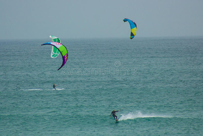 Nautic sports: kitesurf stock photos