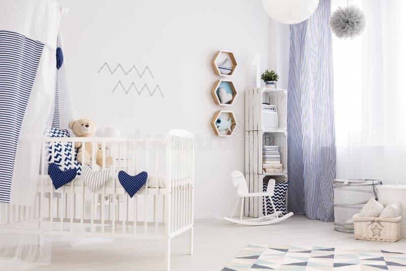 Nautical baby room stock photos