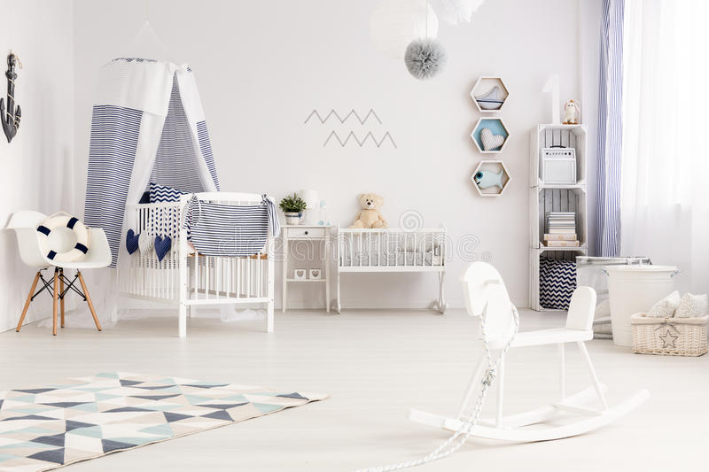Nautical baby style royalty free stock images