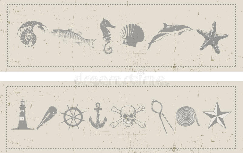 Nautical Banners royalty free illustration
