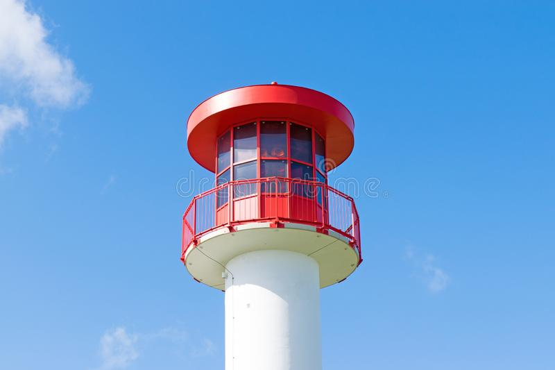 Nautical beacon in Heidkate on the Baltic Sea in spring stock photography