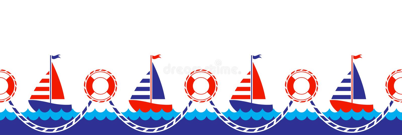 nautical border stock vector illustration of holiday 20689453 rh dreamstime com Nautical Theme Clip Art Nautical Anchor Clip Art