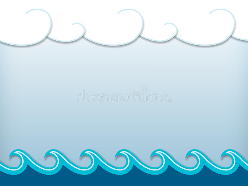Nautical cartoon scenery royalty free illustration
