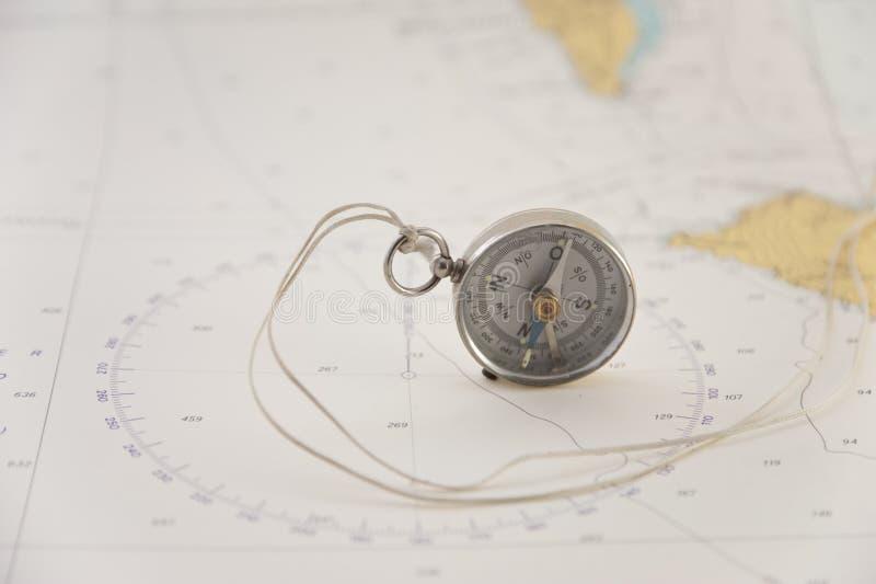 Nautical chart stock image