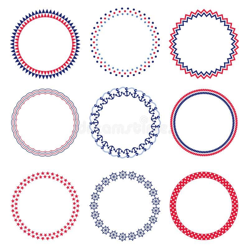 Nautical circle frames stock photo. Image of stars, circles - 65465044