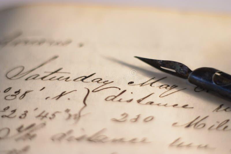 Nautical diary royalty free stock photo