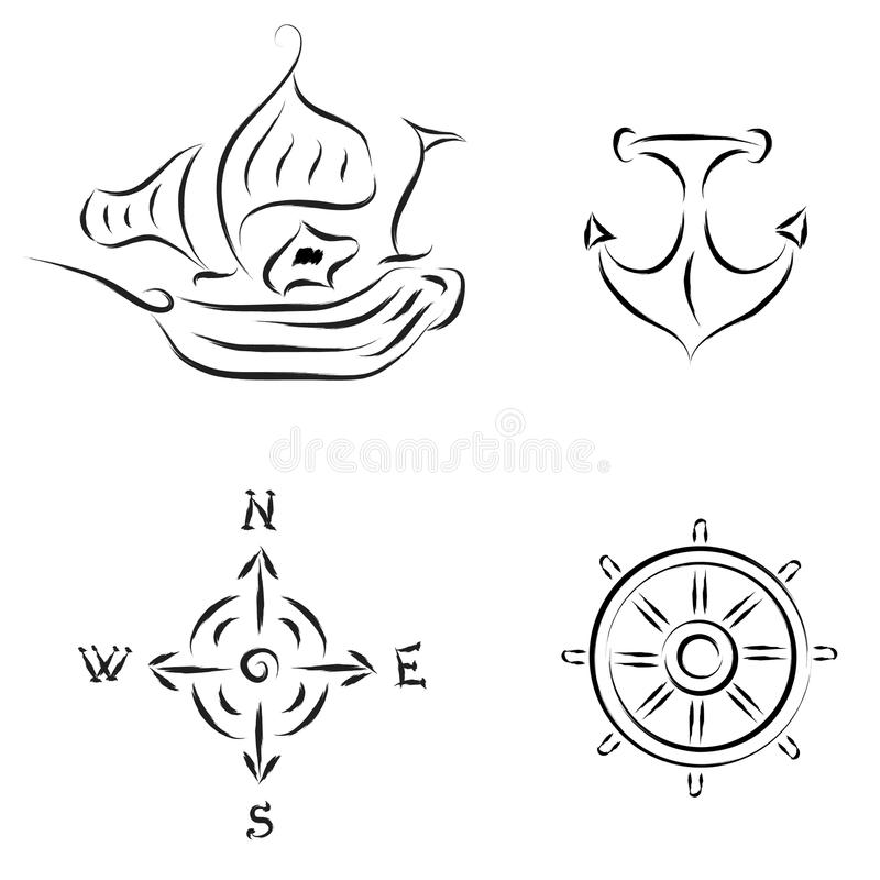 Nautical Elements royalty free stock image