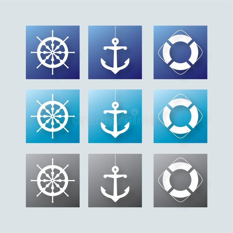 Download Nautical elements stock vector. Image of helm, belt, privateer - 14489019
