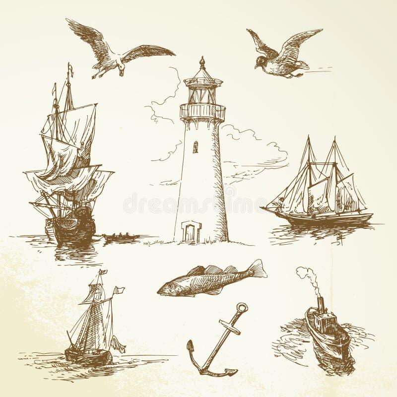Free Nautical Elements Royalty Free Stock Photo - 26787635