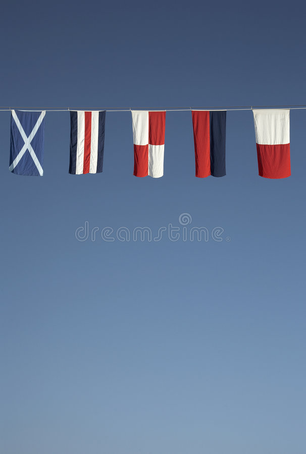 Download Nautical flags stock image. Image of flying, strung, flags - 1830819
