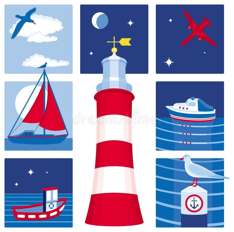 Free Nautical Icons (Set 1) Royalty Free Stock Photos - 11121198