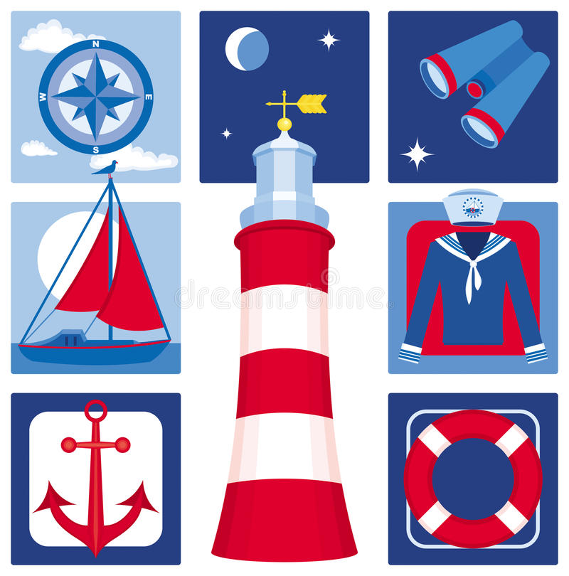 Free Nautical Icons (Set 2) Royalty Free Stock Photography - 11121237