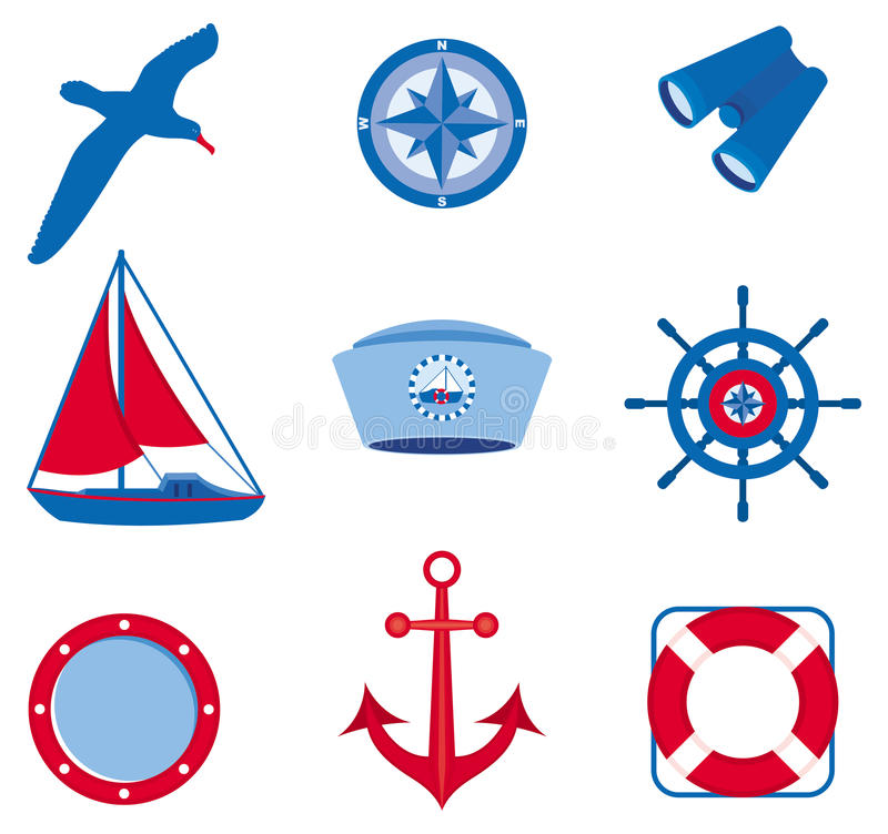 Nautical icons (Set 3) vector illustration