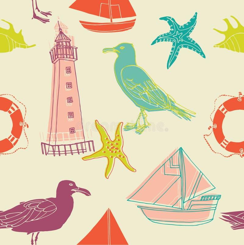 Nautical illustrations royalty free illustration