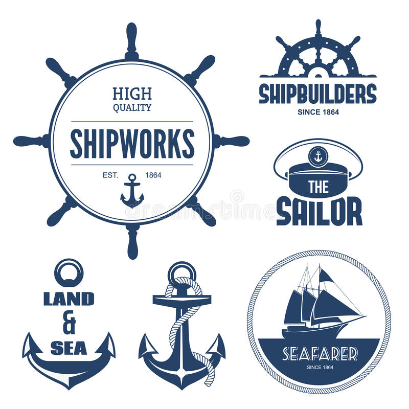 Free Nautical Labels Royalty Free Stock Image - 39603516